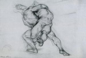 "Fig. 2  ""Wrestlers"", c. 1929-1930"